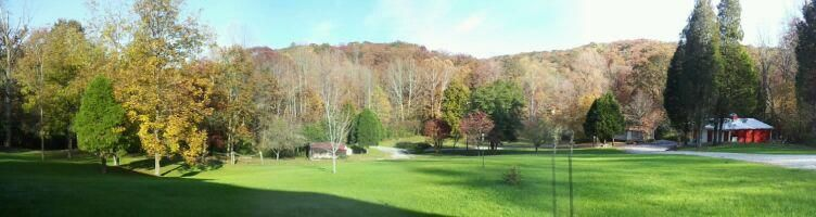 Our farmyard view from front porch.