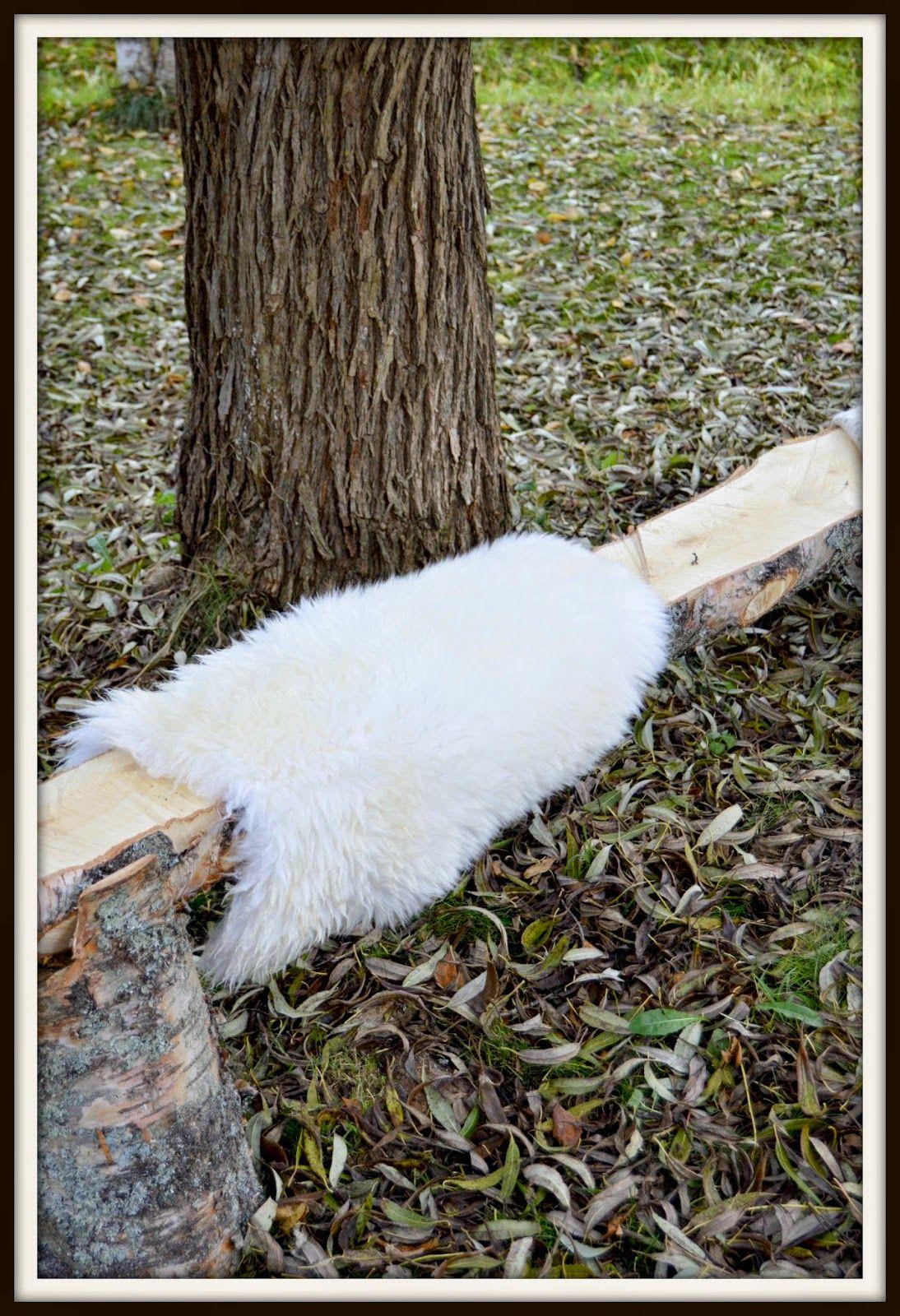 Valkoinen Kaniini: DIY, puupenkki