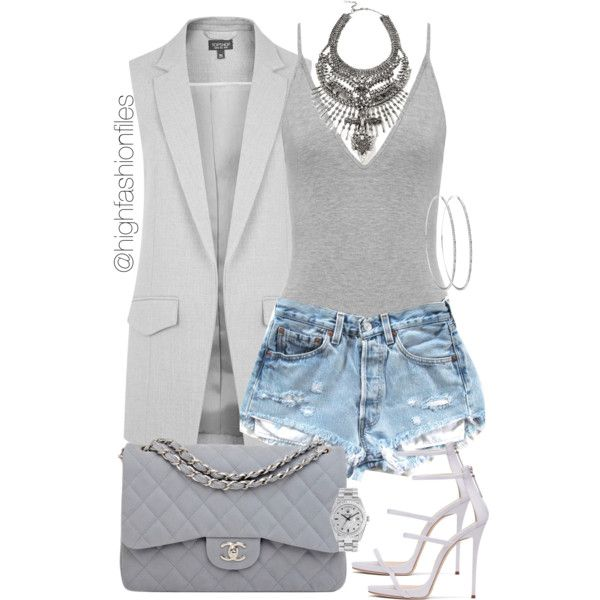 No Grey Area by highfashionfiles on Polyvore featuring moda, Topshop, Chanel, DYLANLEX and Rolex