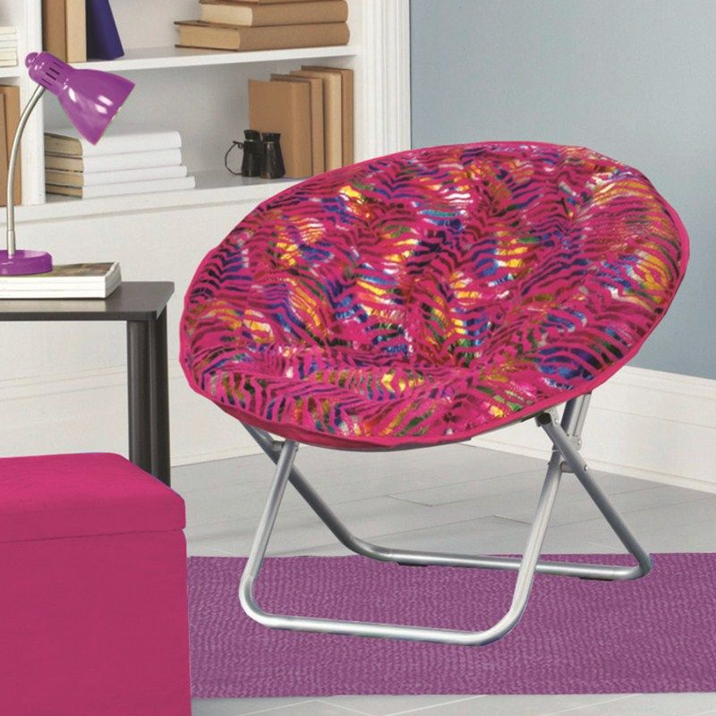 Saucer Chairs For Teens Plush Saucer Chair Pink Zebra