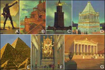 Image result for seven ancient wonders of the world