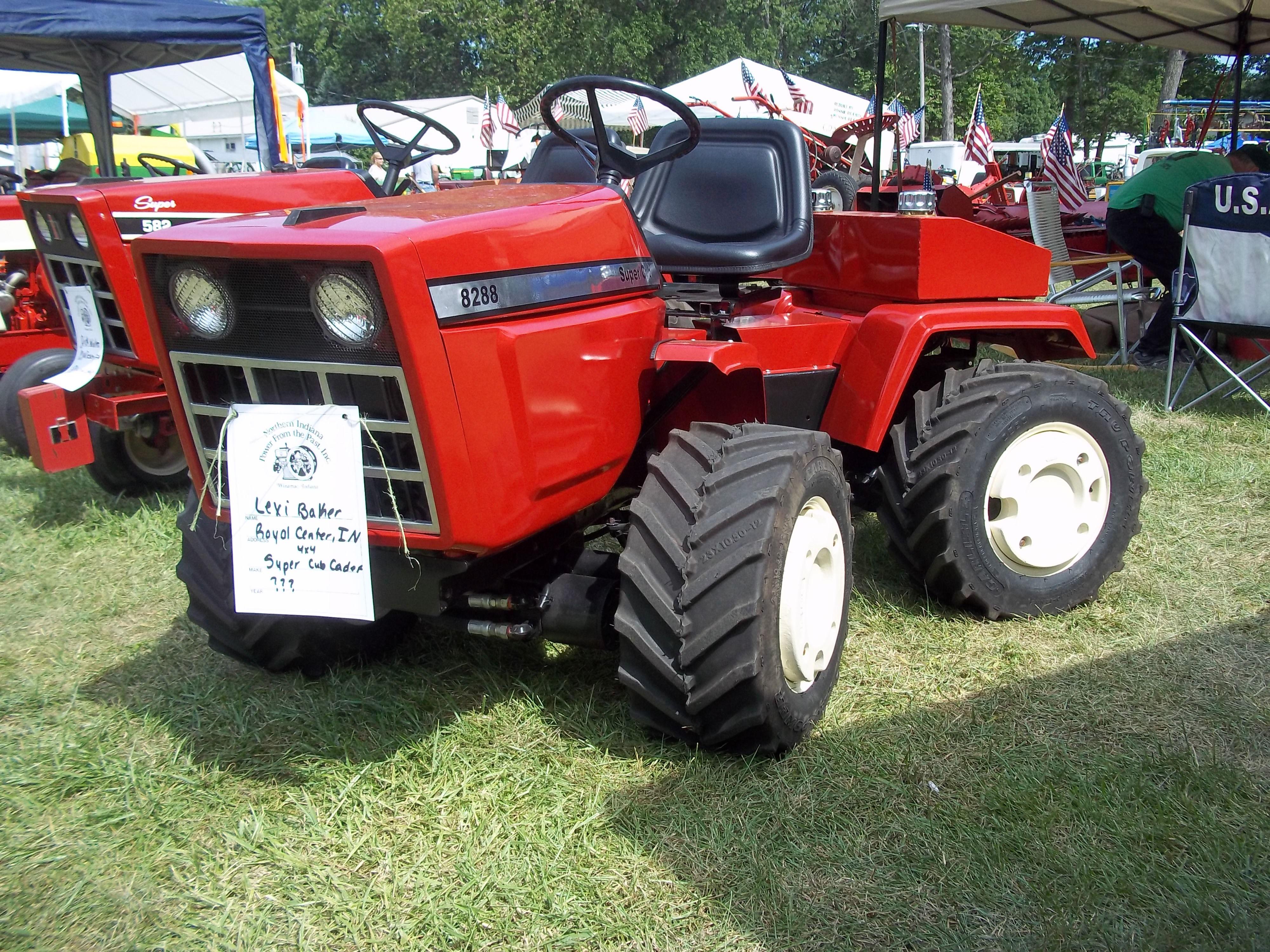 articulated ih garden tractor