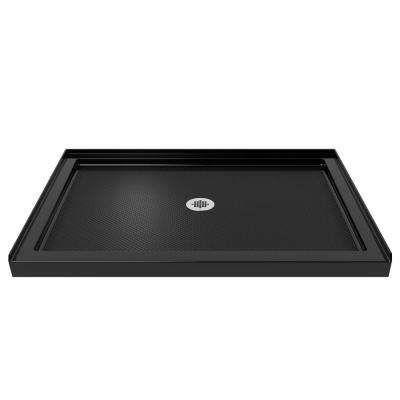 Slimline 32 In X 48 In Single Threshold Shower Base In Black