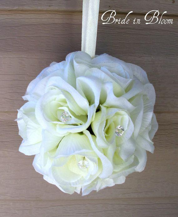 Wedding flower balls Flower girl pomander kissing ball Wedding decorations Aisle runners on Etsy, $22.74 CAD