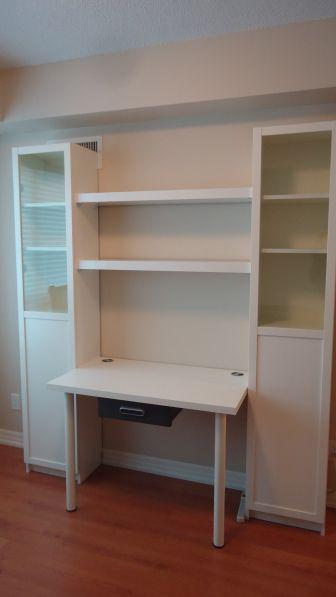 Creating A Custom Desk Unit Ikea Desk Unit Desk Units Ikea