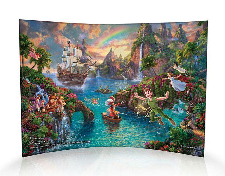 Disney Peter Pan (Neverland) Curved Acrylic Print Thomas