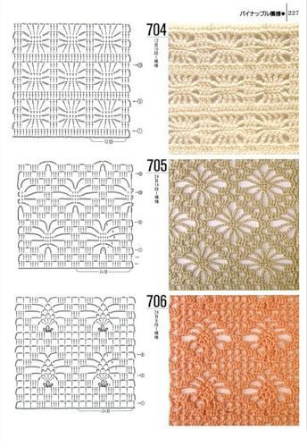 Tantissimi Punti Uncinetto Con Schema Crochet Stitch With Patterns