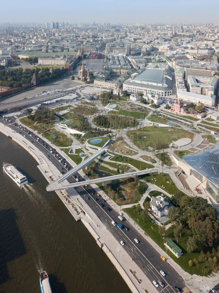 Gallery Of Moscow S Zaryadye Park Sees More Than One Million Visitors In Less Than A Month 3 Park Landscape Urban Landscape Landscape