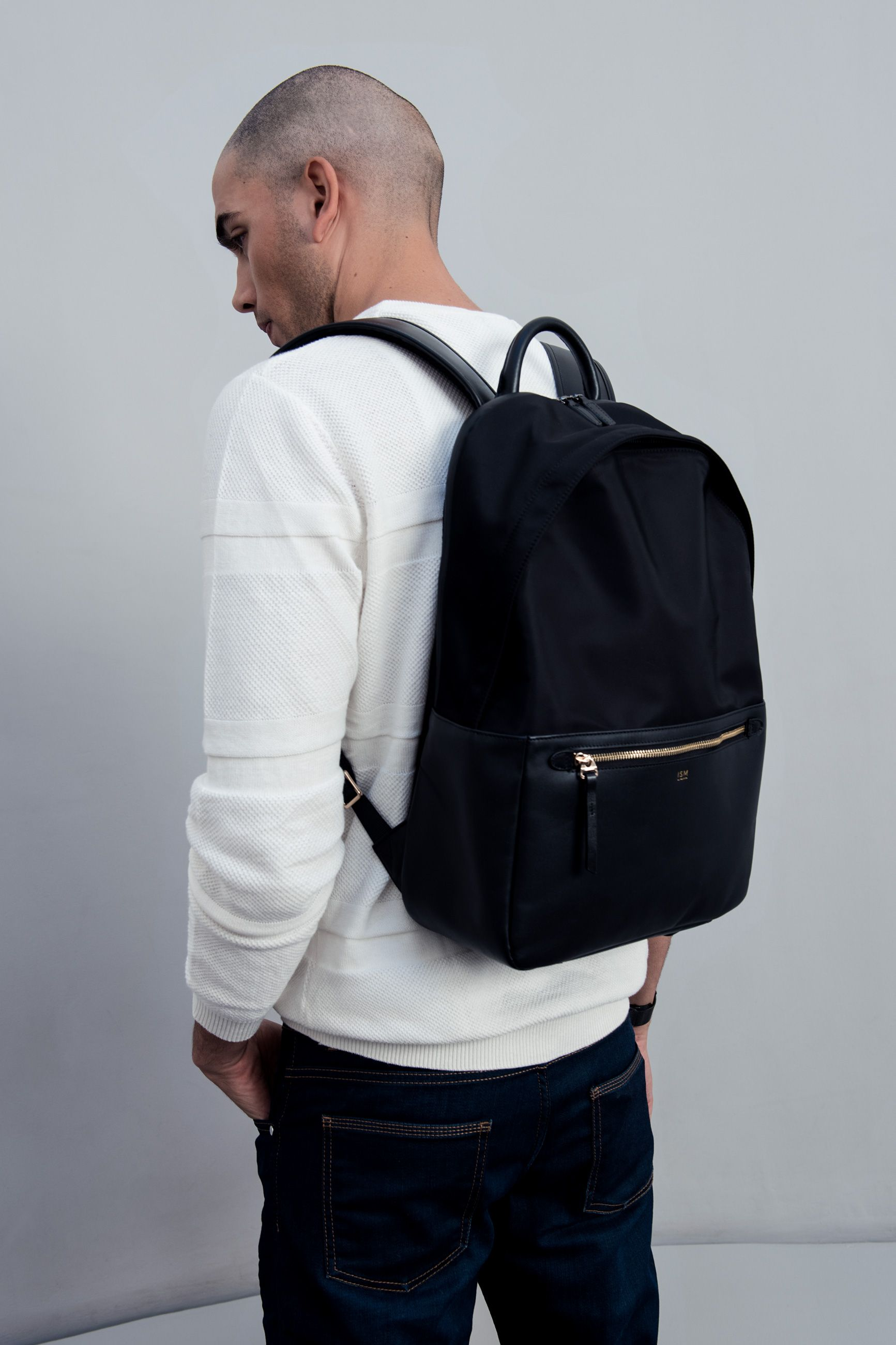 a1cb10e9b5044 Leather Laptop Backpack