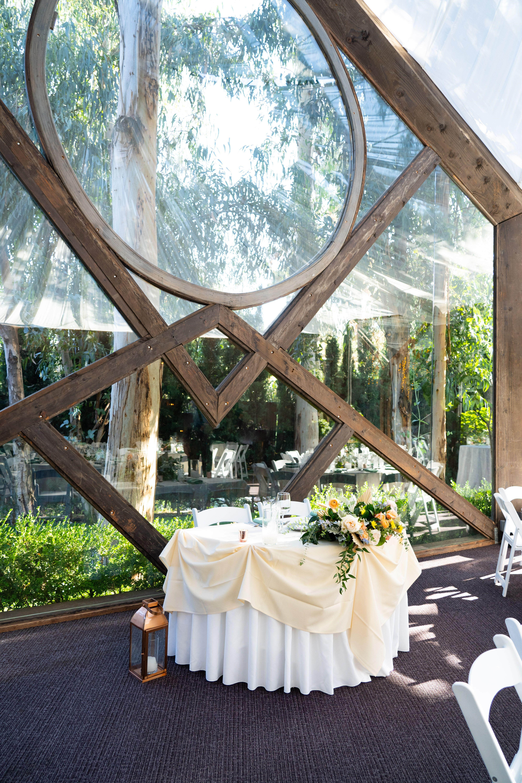 Oak Room Calamigos Ranch Sweetheart Table Calamigos