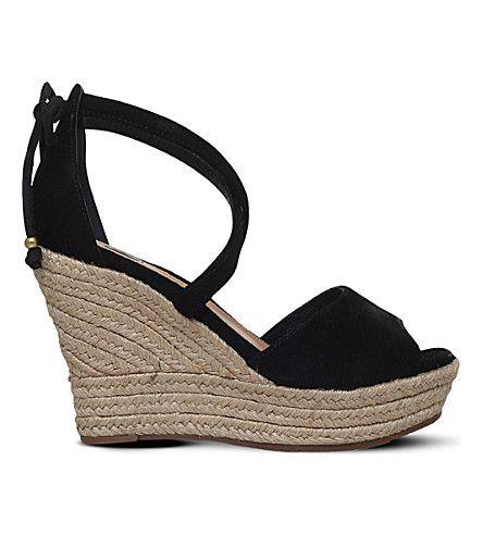 e73fcc90d7b UGG Reagan Leather Wedge Sandals. #ugg #shoes #sandals | Ugg | Wedge ...