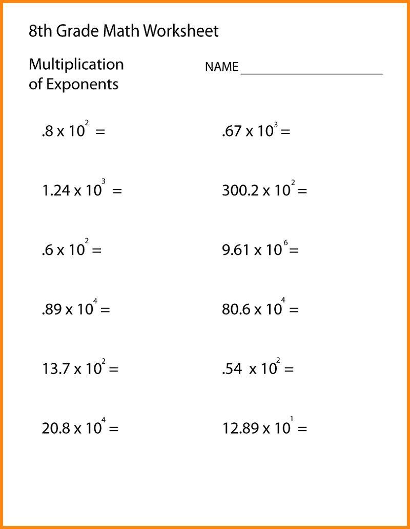 Grade 8 Math Worksheets Printable Shelter 8th Grade Math Worksheets 8th Grade Math Math Worksheets