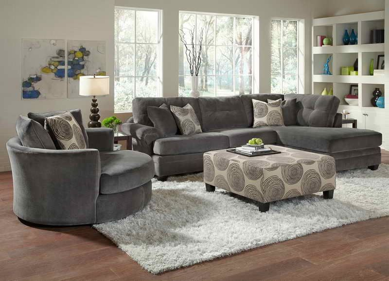 Living Room Swivel Chairs Upholstered Room Furniture Design