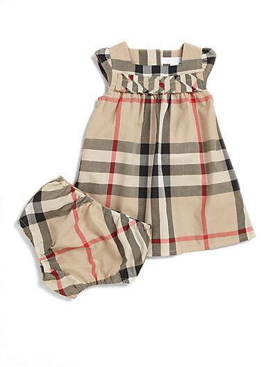 d27ffe0772 Burberry - Infant's Two-Piece Check Dress & Bloomers Set - Saks.com ...