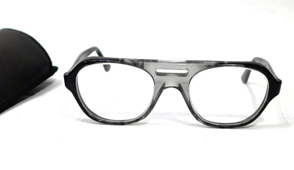 Vintage Titmus Safety Eyeglass Frame Z87 54-22-145 Grey Black Smoke ...
