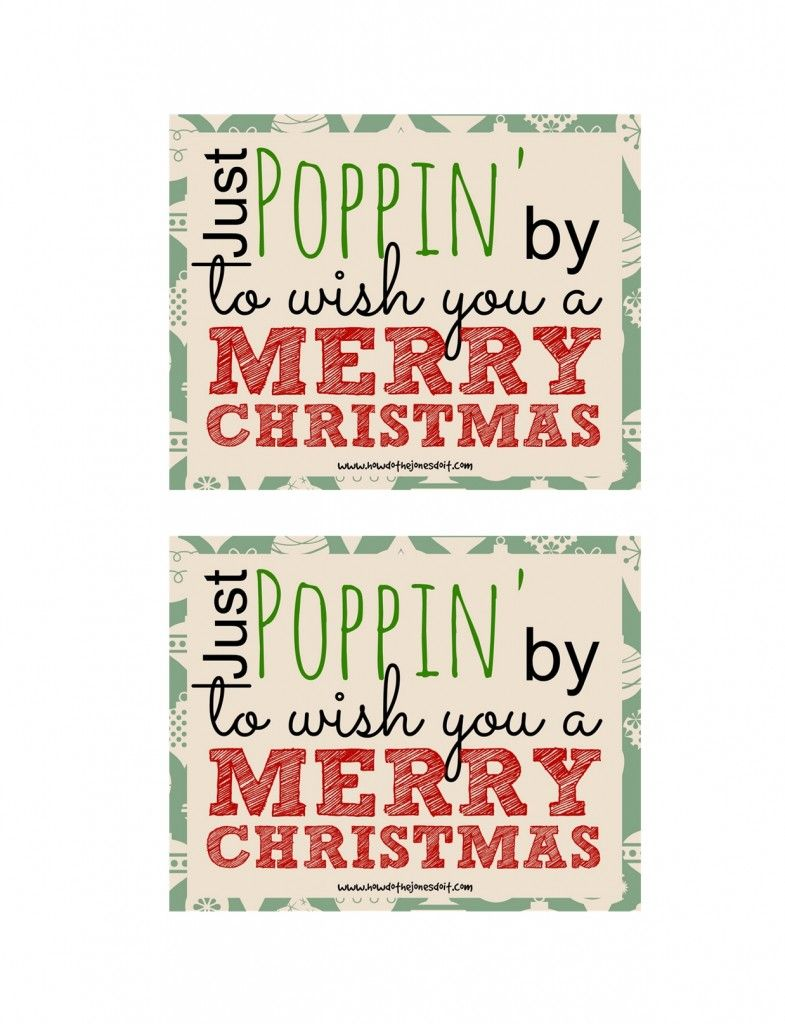 Just Poppin\' by to Wish You a Merry Christmas | Christmas | Gift ...