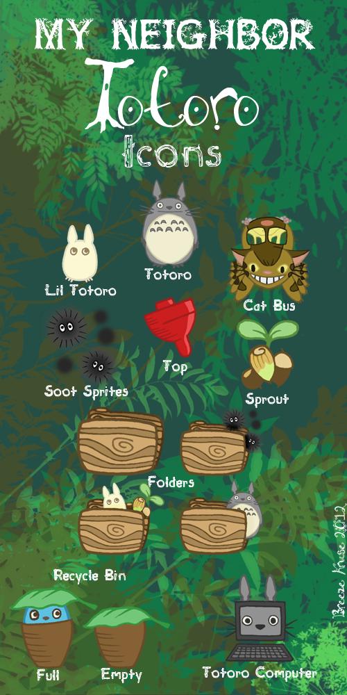 My Neighbor Totoro Icons By Kirei Kaze On Deviantart Totoro My Neighbor Totoro Ghibli Art