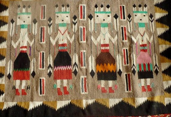 Navajo rug with Yei Dancers.