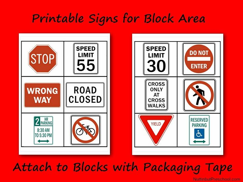 picture relating to Printable Safety Signs titled Printable Security Indicators for Block Room Pre-K Instructor Board