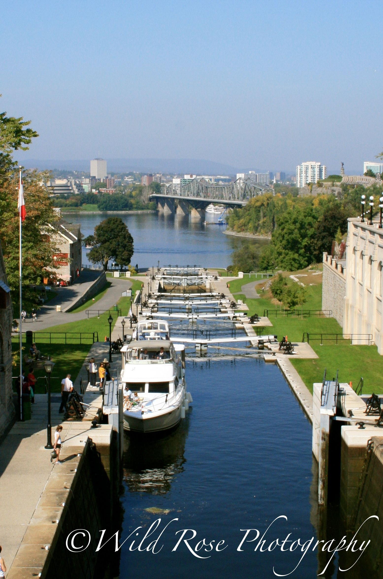 the rideau canal waterway which links the lakes and. Black Bedroom Furniture Sets. Home Design Ideas
