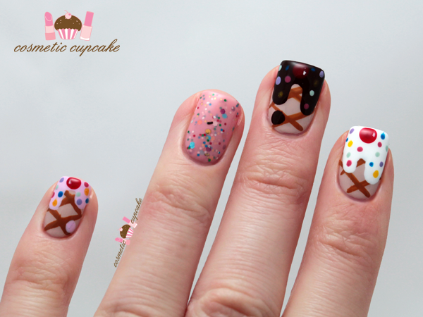 Ice Cream Drip Nails | love a bit of summer during winter and who doesn't enjoy ice cream ...
