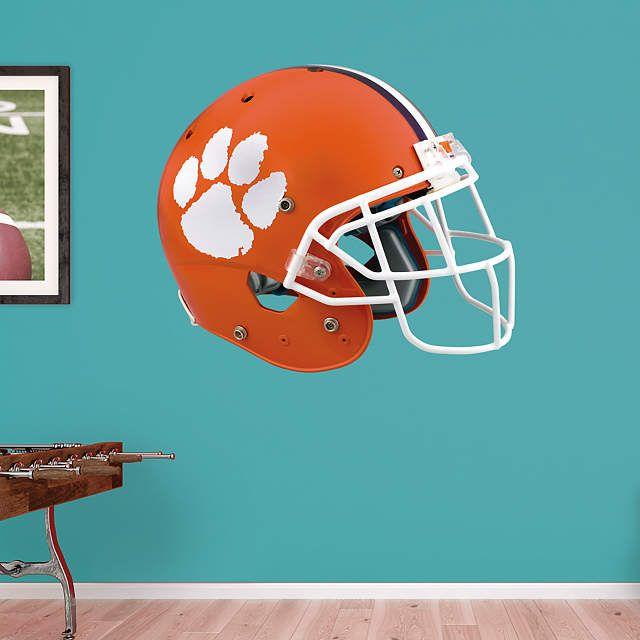 Clemson Tigers Helmet Wall Decal Shop Fathead For Clemson Tigers Decor Clemson Tigers Decor Wall Decals Clemson Tigers