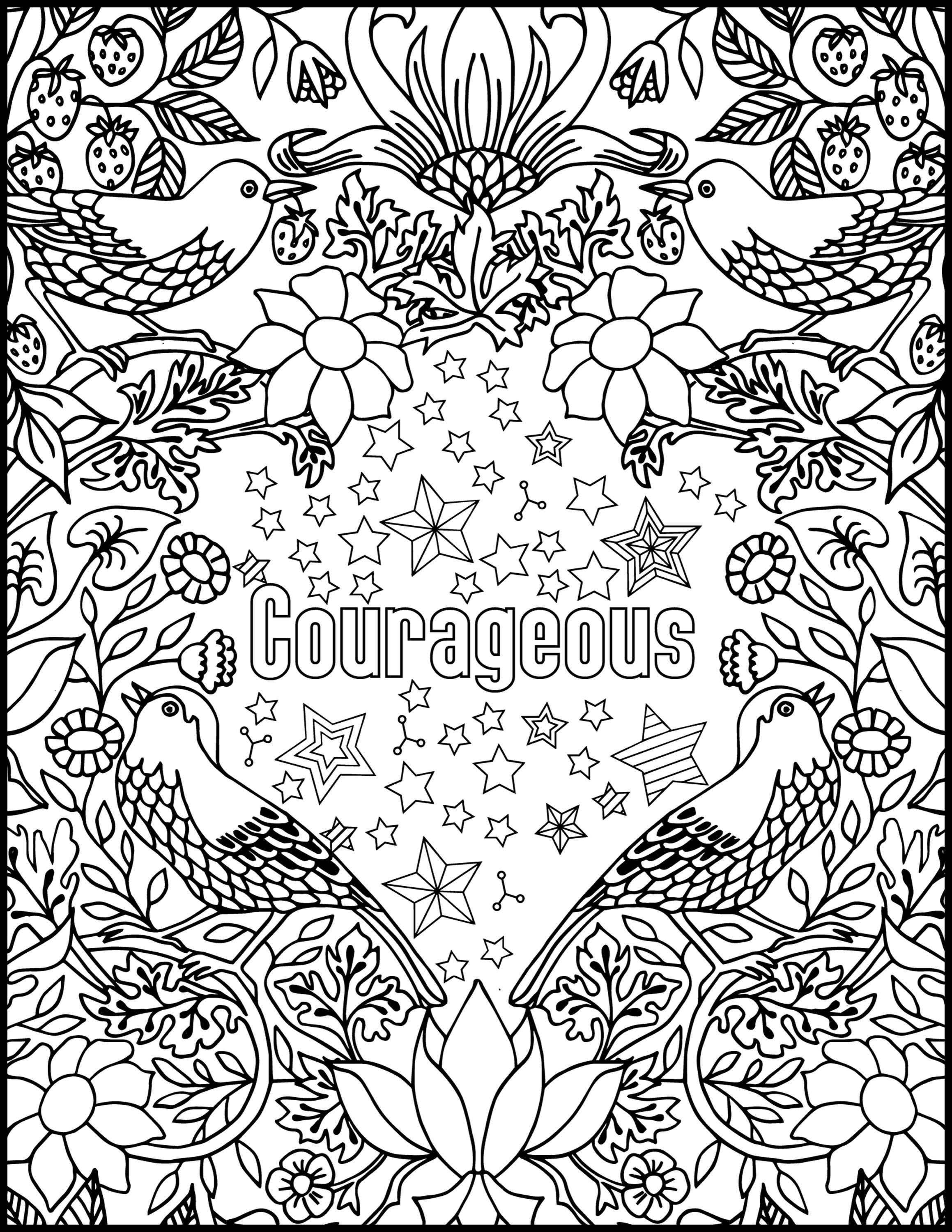 Inspirational Quotes Coloring Pages Best Of Courageous Positive Word Coloring Book Printable Col Words Coloring Book Coloring Book Set Swear Word Coloring Book
