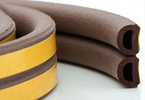 D-shaped self-adhesive EPDM insulating rubber brown