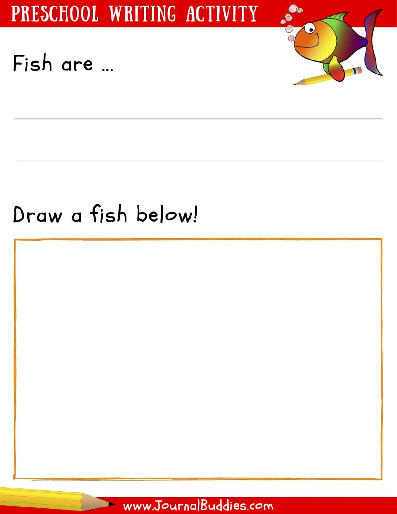 Writing Worksheets For Preschoolers And Writing Prompt