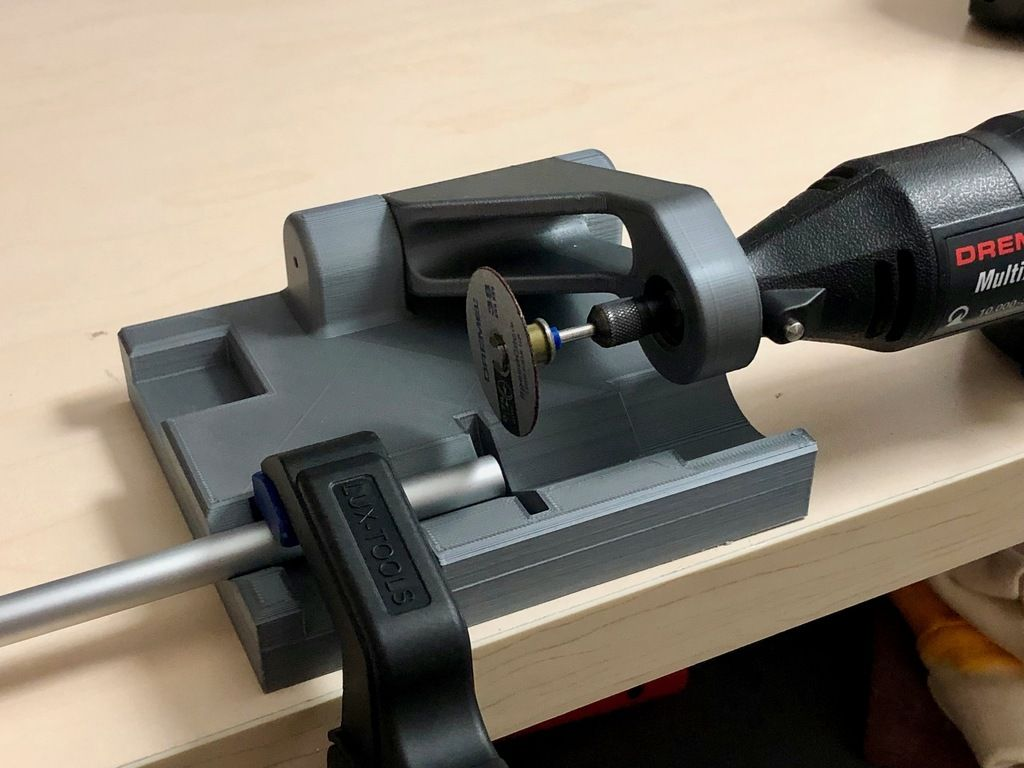 Rod And Tube Cutter For Dremel By Greasemonkey88 Thingiverse 3d Drucker