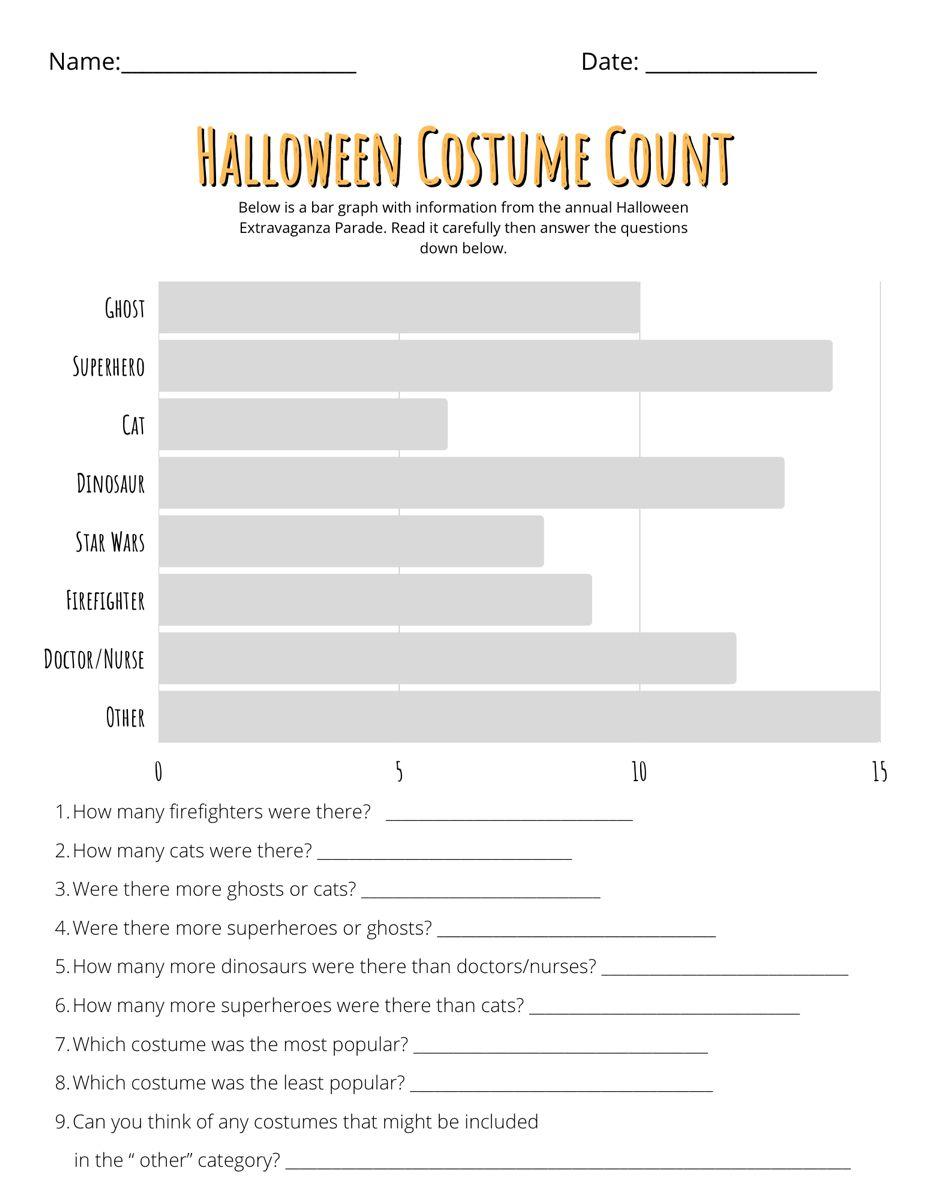 Halloween Bar Graph Worksheets Bar Graphs Graphing Worksheets For Kids [ 1200 x 927 Pixel ]