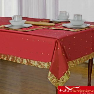 @Overstock - Dress your table in the old-world opulence of Indian Selection's hand made Sari table linen. These table cloths feature a pattern inspired by the royal designs of Indian culture.http://www.overstock.com/Worldstock-Fair-Trade/Handmade-Fire-Brick-Sari-Table-Cloth-India/7233505/product.html?CID=214117 $64.99