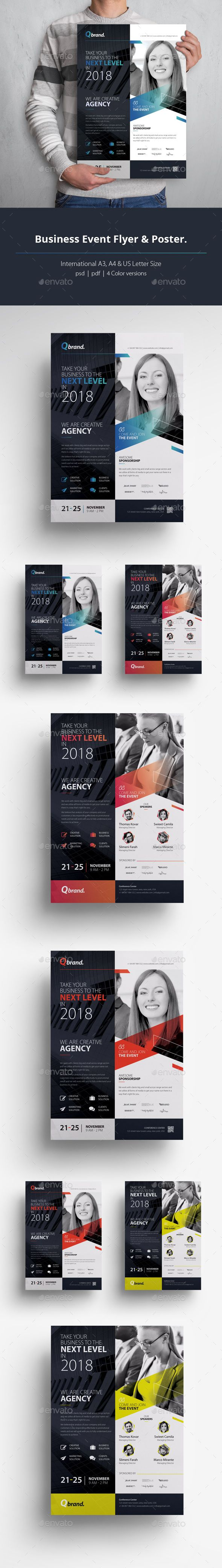 business event flyer poster template photoshop psd marketing