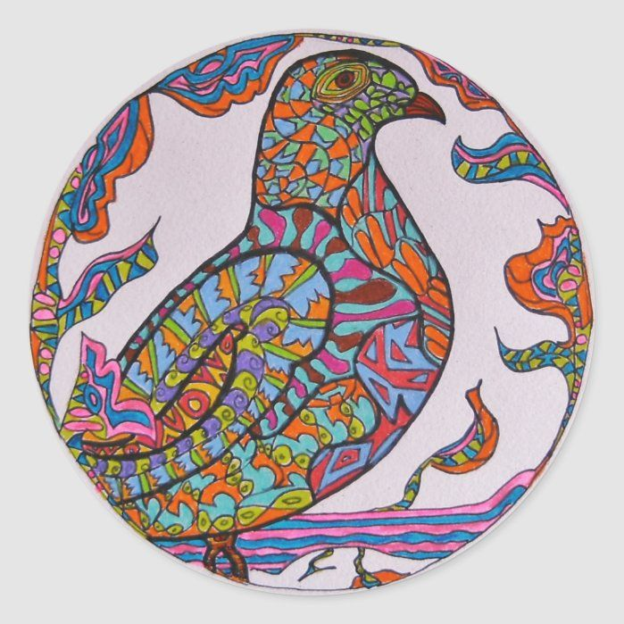 Photo of Red-billed Pigeon Classic Round Sticker – Custom Stickers – Make Your Own Personalized Decorative Decals