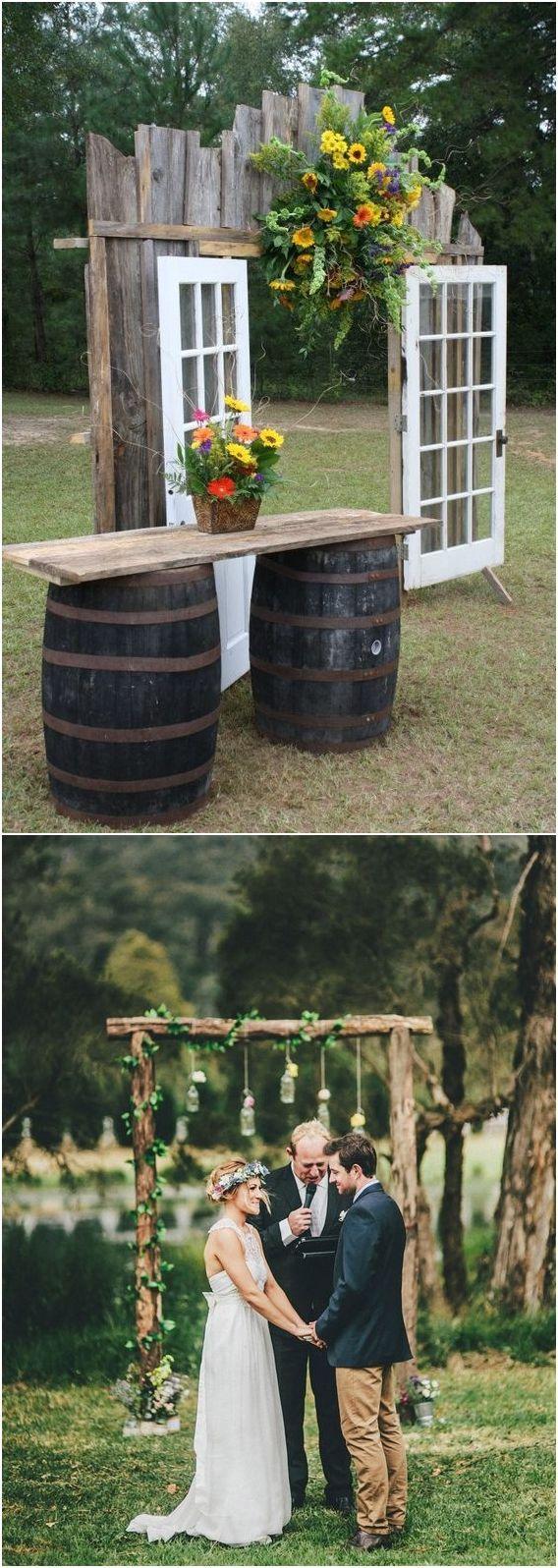 Rustic wedding arches u alter wedding ideas