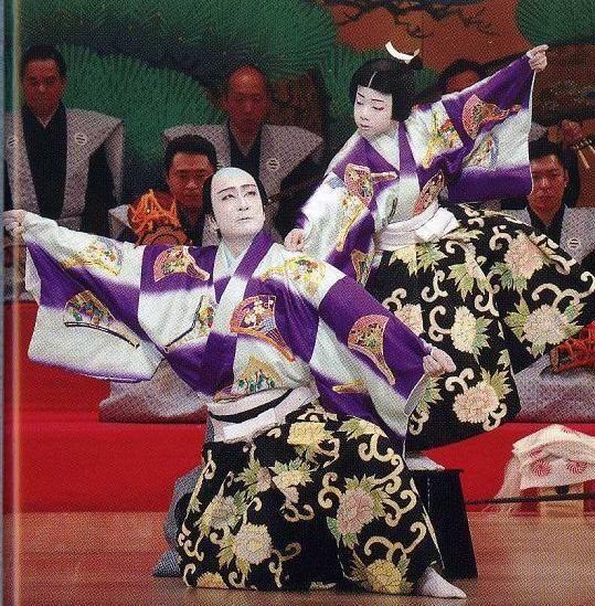 連獅子 Renjishi Kabuki 片岡仁左衛門 Kataoka Nizaemon 片岡千之助 Kataoka Shennoshuke A 浄瑠璃 歌舞 隈取り