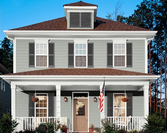 Sherwin Williams Colors Magnetic Gray Shingle House Exterior