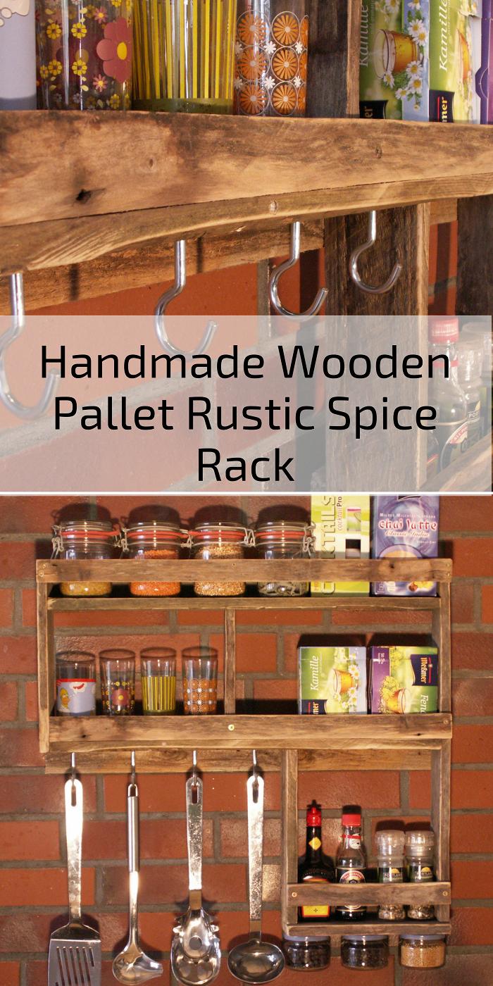 Handmade Wooden Pallet Rustic Spice Rack From Germany Etsy Kitchen Ideas Decor Kitchens Kit Diy Island Racks