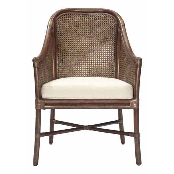 The Tivoli Armchair Features Double Walled Caning Leather Wrapped Rattan Joints And Danish Inspired Silhouette Rattan Armchair Rattan Chair Shop Chair