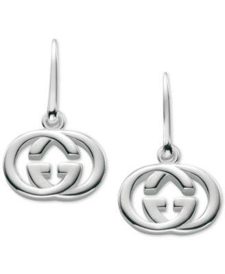 2ce60e9b792 Gucci Women s Sterling Silver Interlocking G Hook Earrings YBD22332100100U