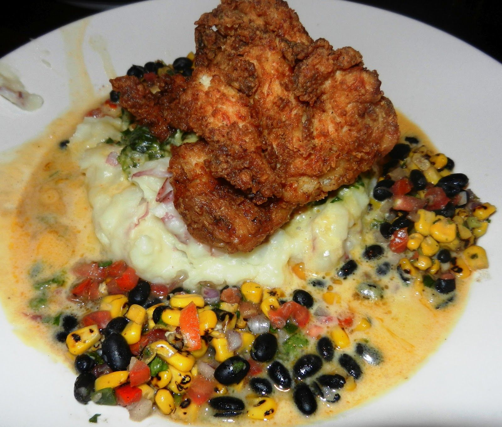 Buttermilk Fried Chicken Bahama Breeze My Absolute Fave That Sauce Is Soo Good With The Mashed Potatoe Recipes Buttermilk Fried Chicken Restaurant Recipes