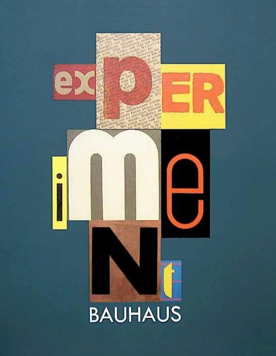 Bauhaus experiment – exhibition catalog Bauhaus Dessau – 1988 cover image credit to Ott + Stein