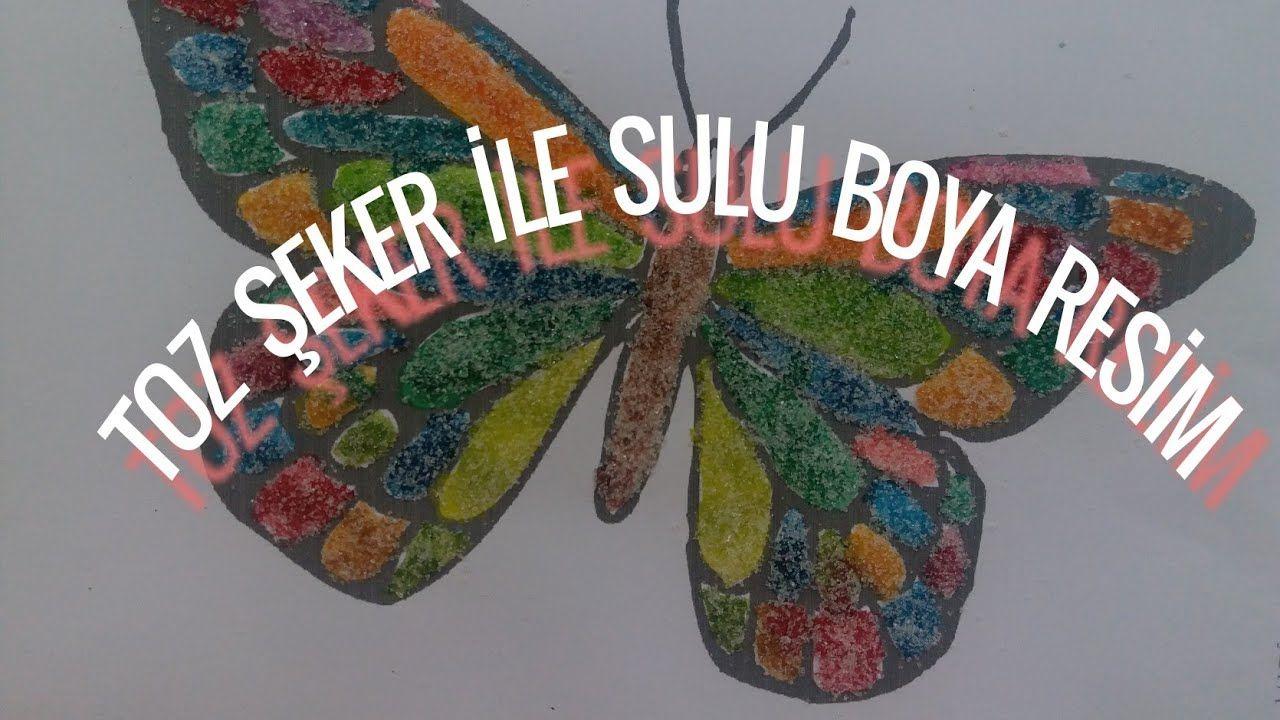 Toz Seker Ile Sulu Boya Resim Yapimi Eglenceli Cocuk Videolari