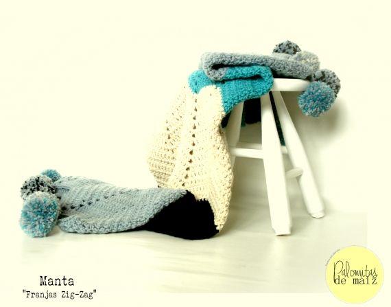 Manta tejida al crochet - Crochet - Tejidos de Punto - 516558