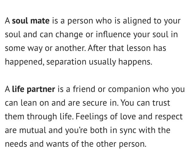 Soul Mate Vs Life Partner Spirit Life Partners Life Quotes