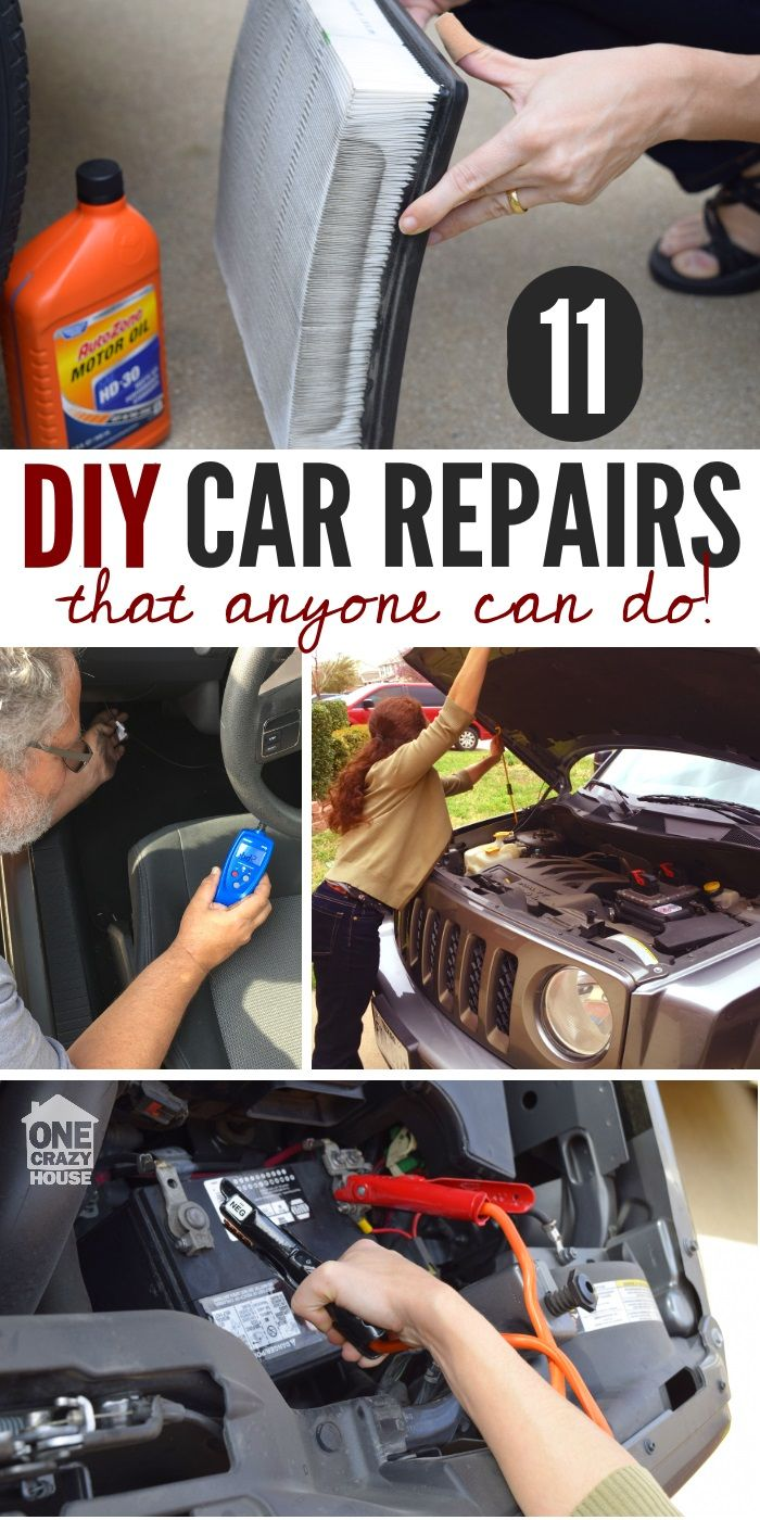 11 Easy Car Repairs You Can Totally Do Yourself Things That Are Good To Know Geld Sparen