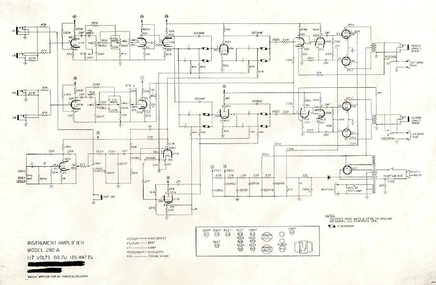 Magnatone 280-A   Schematics   Diagram, Floor plans on