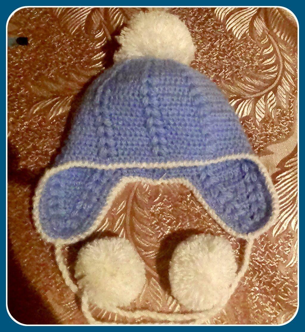 детская шапочка голубое небо схема вязания
