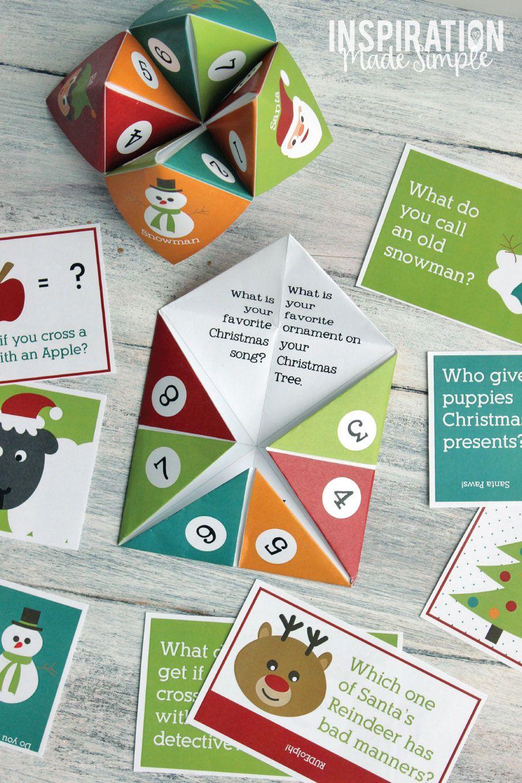 Printable Christmas Cootie Catcher Inspiration Made Simple Christmas Printables Christmas Diy Christmas Activities