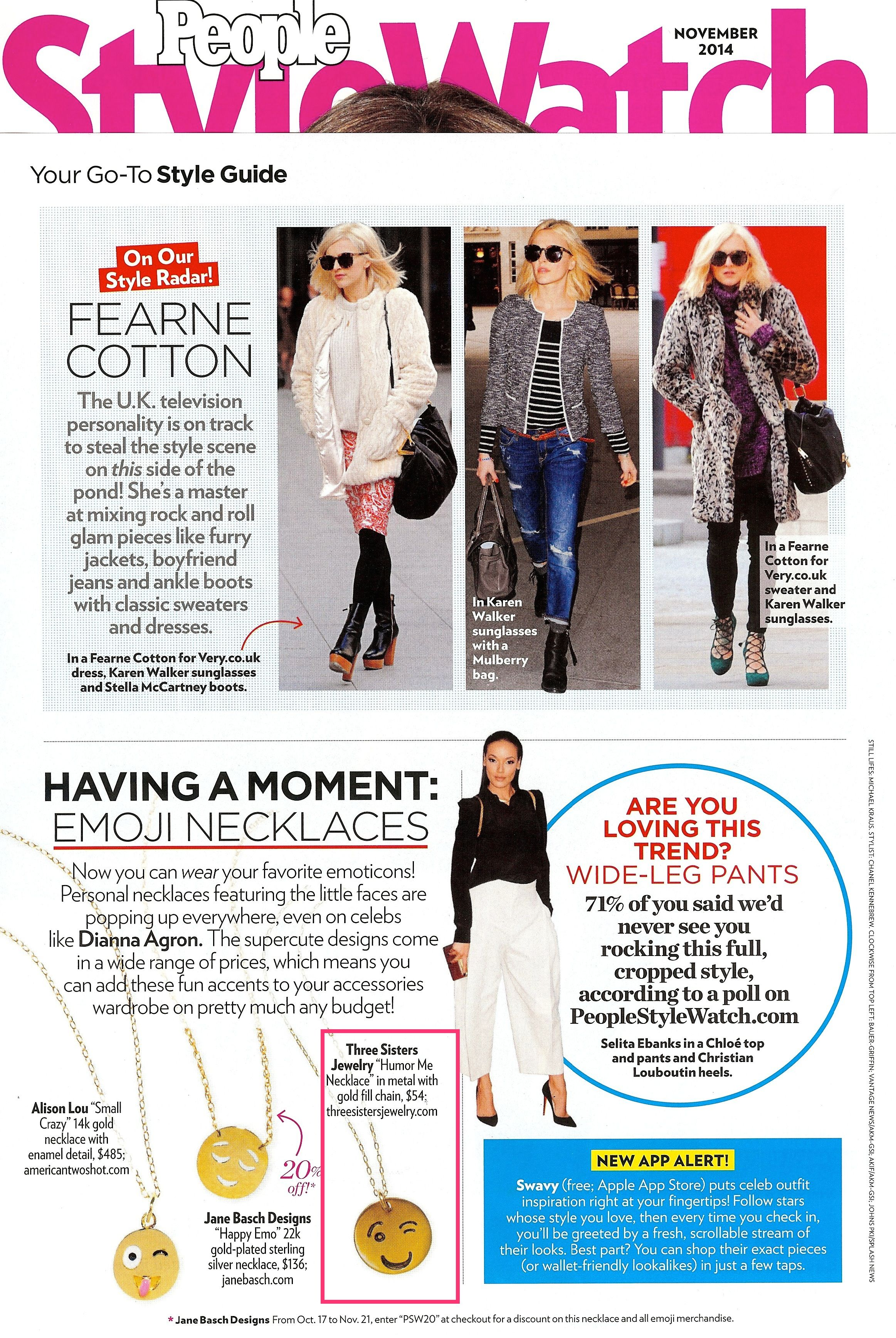 Three Sisters Jewelry Design November 2014 People StyleWatch
